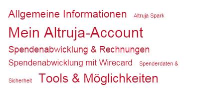 Online Fundraising Software von Altruja
